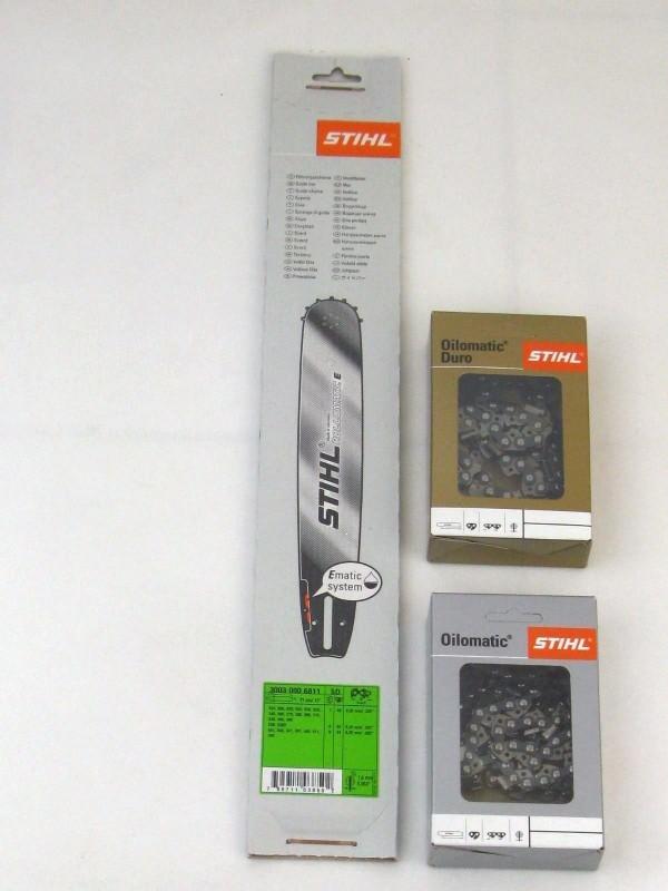 Stihl 30030006811 Führungsschiene 37cm +1 Stück Kette Rapid Duro 3 +1 Stück Vollmeißelkette