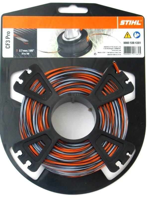 Stihl 00009304301//0000 930 4301 Mähfaden 2,7mm x 26 Meter, kreuzförmig, CF3Pro,00009304301