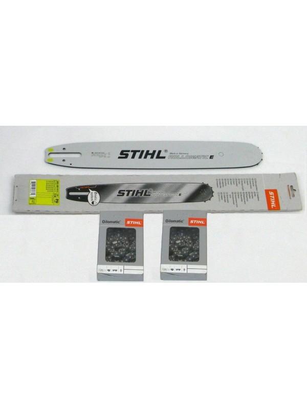 Stihl 30030005213 Führungsschiene Rollomatic E 40cm 3/8' 1,6mm +2 Stück Halbmeißelketten