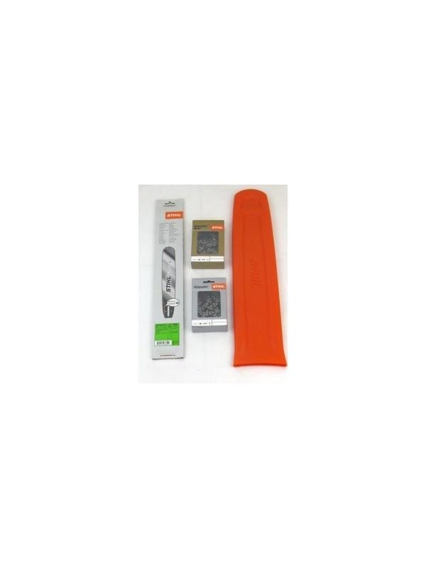Stihl 30030006811 Führungsschiene+1 Stück Stihl Rapid Duro3+1Stück  Vollmeißelkette+1 Stück Schutz
