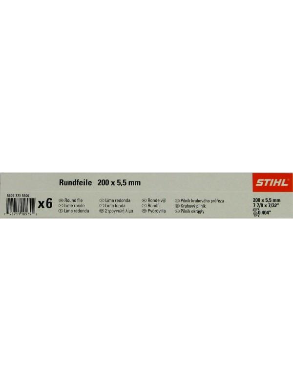 STIHL 56057715506 Rundfeile 6 Stück für Sägeketten 5,5 mm für .404'