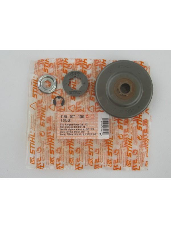 Stihl 11250071002//1125 007 1002  Kettenrad Kit Set Ringkettenrad mit Ritzel 3/8' für MS 290 bis 391