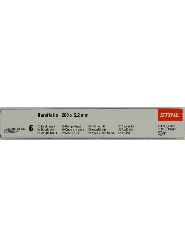 STIHL 56057715206 Rundfeile 6 Stück für Sägeketten 5,2 mm für 3/8' (5605 771 5206)