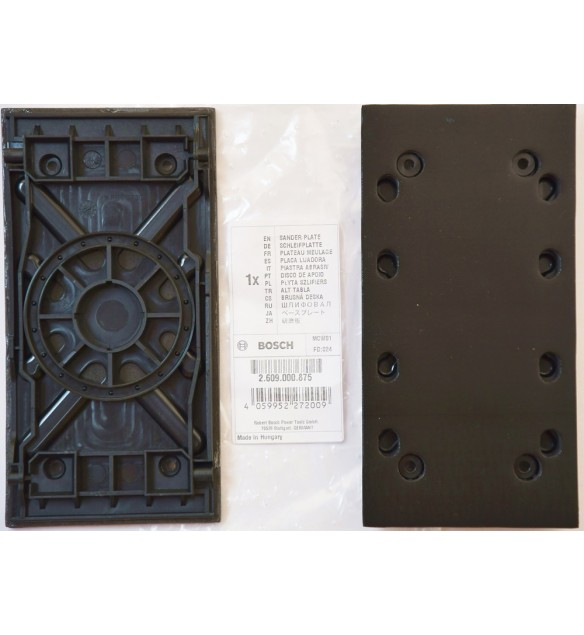 Bosch 2609000875 Schleifplatte PSS 200 A Schwingschleifer, 92 x 182 mm, Micro-Klett