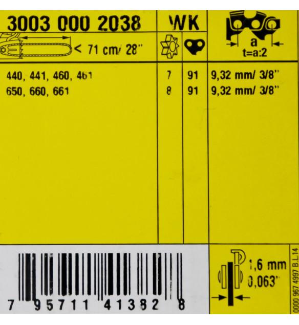 STIHL  30030002038 Führungsschiene Rollomatic ES Light 3/8' 1,6mm 11Z  Rollomatic  71cm