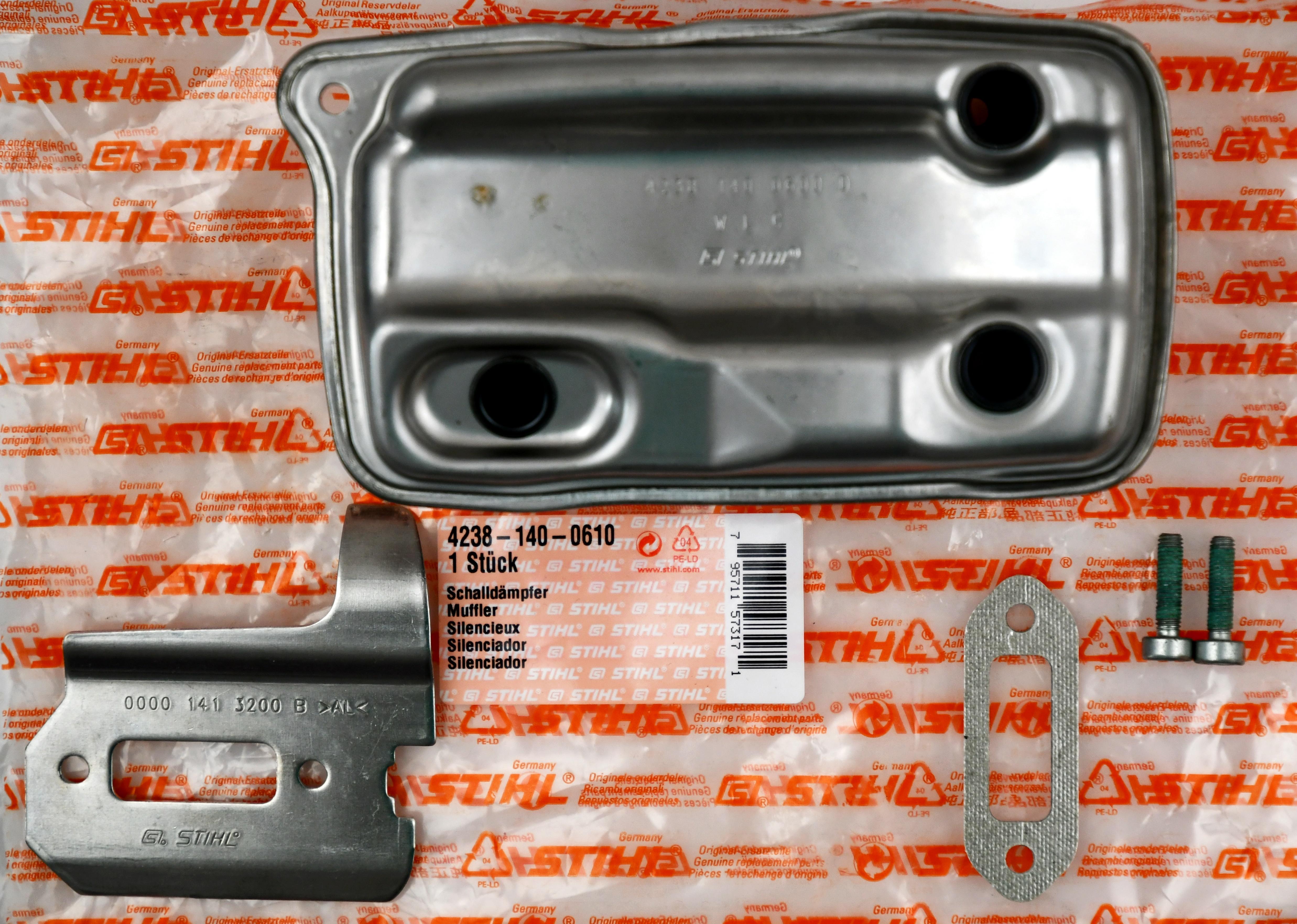 Stihl  42381400610 Auspuff Schalldämpfer für Stihl Trennschleifer TS410 TS420 Ersatzteil 4238 140 0610