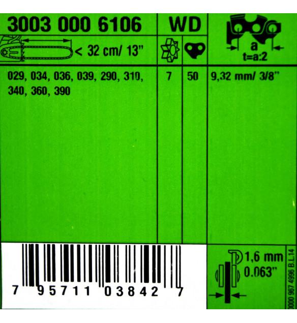 Stihl 30030006106 Führungsschiene Rollomatic E  32cm 3/8'P 1,6mm
