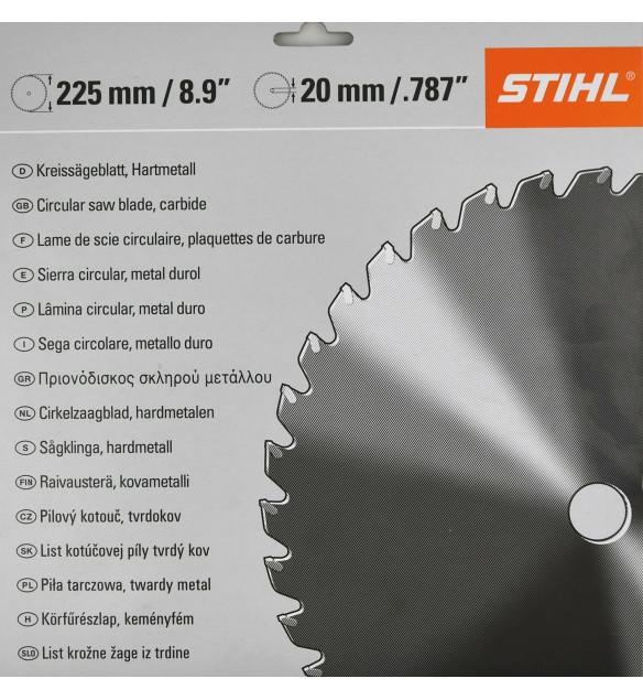 Stihl Messer  40007134211 Kreissägeblatt Hartmetall 225 - 36Z 20mm Bohrung
