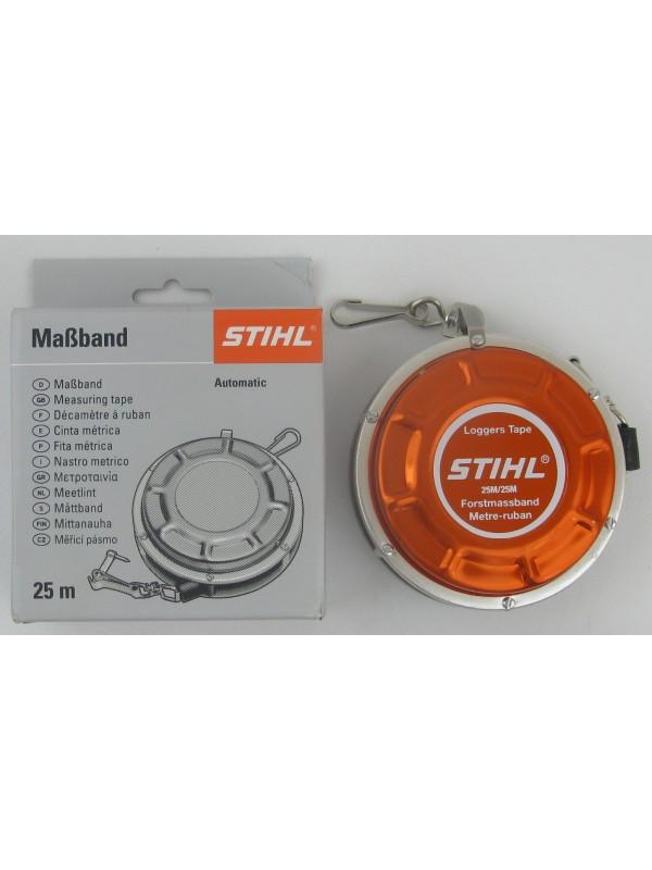 STIHL 00008810801 original Forstmaßband, Metall 25m Aufrollautomatic