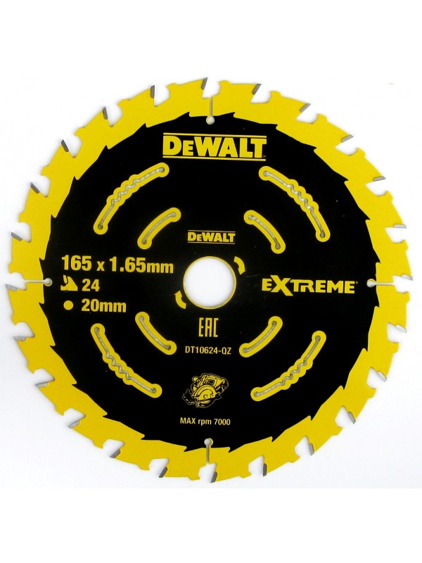 DeWalt Kreissaegeblatt Akku 165/20mm 24WZ - DT10624-QZ