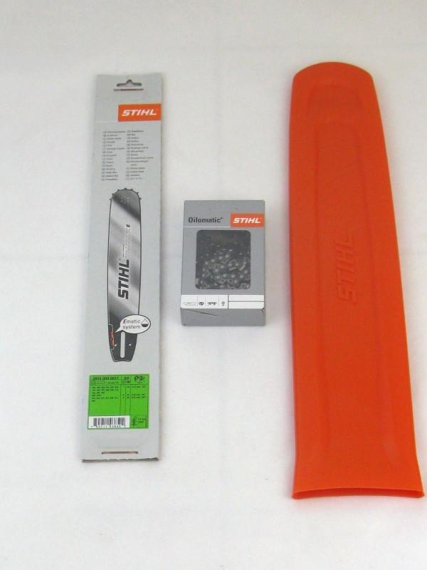 Stihl 30030006811 Führungsschiene E 37cm 1,6 3003 000 6811 + 1 Stihl Halbmeißelkette + Schwertschutz