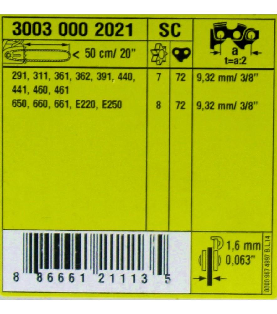 Stihl 30030002021 Führungsschiene Rollomatic ES Light, 3/8', 1,6 mm 3003 000 2021