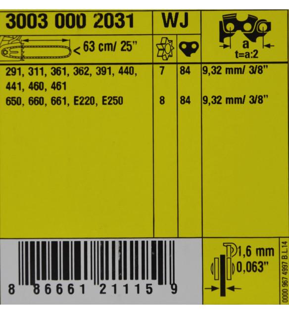 Stihl 30030002031 Führungsschiene ES-LIGHT 63 cm 1,6 3/8' Schwert